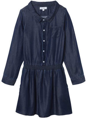 DL1961 DL 1961 Chambray Long-Sleeve Dress w/ Cinched Waist, Size 7-16