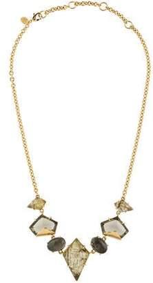 Alexis Bittar Labradorite Doublet & Pyrite Doublet Collar Necklace
