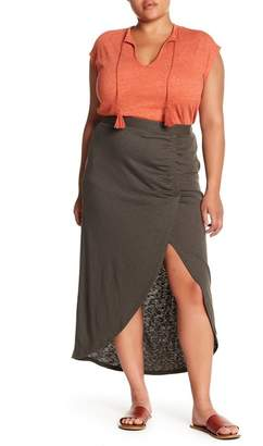 Susina Ruched Maxi Skirt (Plus Size)