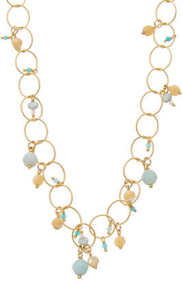Chan Luu 18K Yellow Gold Over Silver Gemstone & Mother-Of-Pearl Necklace