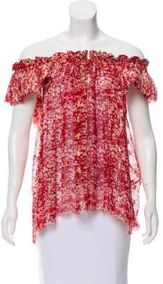 Etoile Isabel Marant Silk Off-The-Shoulder Top