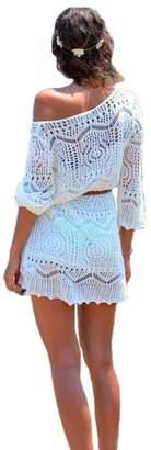 iRachel Women Summer Crochet Beach Bikini Swimwear Cover Up Dress