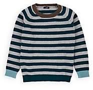 Il Gufo Kids' Striped Virgin Wool Sweater