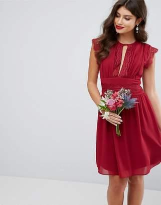 TFNC Wedding Lace Detail Midi Dress