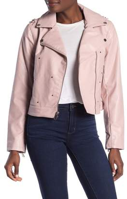 ea869707f Studded Faux Leather Jacket - ShopStyle