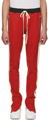 Fear Of God Red and Off-White Knit Track Pants