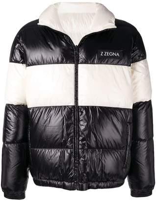Ermenegildo Zegna two-tone padded coat