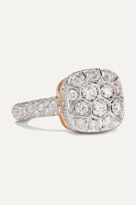 Pomellato Nudo 18-karat Rose And White Gold Diamond Ring - Rose gold