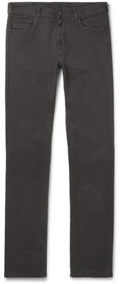 Canali Stretch-cotton Twill Trousers - Green