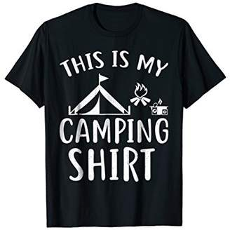 Camper This Is My Camping Shirt Funny Gift Idea T-Shirt