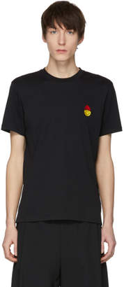 Ami Alexandre Mattiussi Black Limited Edition Smiley Edition Patch T-Shirt