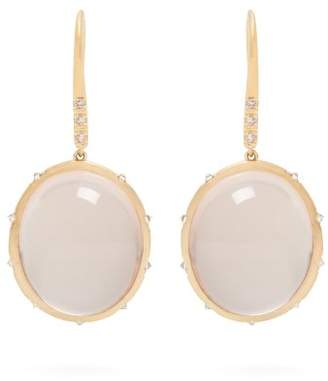 Susan Foster Diamond & Yellow Gold Earrings - Womens - Gold
