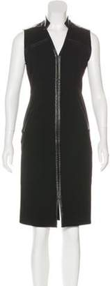 Halston Sleeveless Knee-Length Dress Black Sleeveless Knee-Length Dress