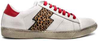 Amiri Viper Leopard Calf Hair Low Sneakers