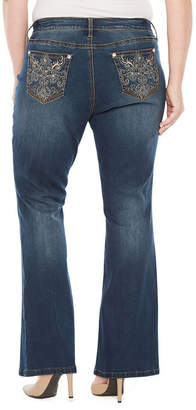 Boutique + + Embellished Back Pocket Bootcut Jean - Plus