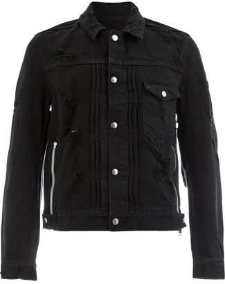 Balmain distressed denim jacket