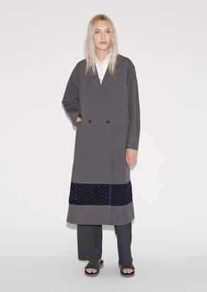 Kolor Fabric Blocked Coat Top Gray