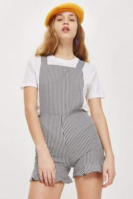 Oh My Love **Gingham Pinafore Playsuit
