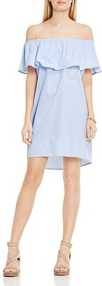 VINCE CAMUTO Off-the-Shoulder Ruffle Dress $119 thestylecure.com
