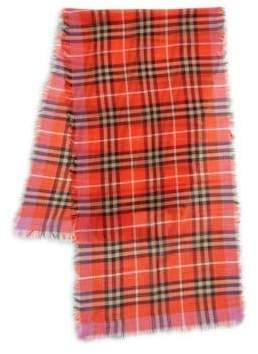 Burberry Kid's Wool-Silk Plaid Scarf