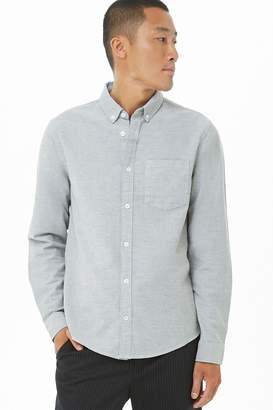 Forever 21 Chambray Classic Fit Shirt