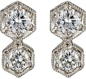Cathy Waterman Women's Double-Hexagon Stud Earrings