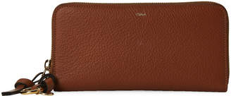 Chloé Brown Leather Zip-Around Wallet
