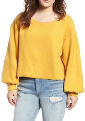BP Blouson Sleeve Fleece Pullover