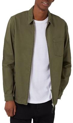 Men's Topman Zip Shirt Jacket $65 thestylecure.com