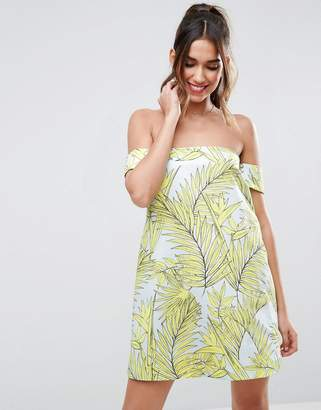 Asos Design Tropical Aline Mini Dress