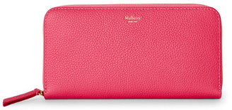 mulberry Candy Leather Zip-Around Wallet $430 thestylecure.com