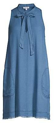 Splendid Women's Crosshatch Tie Chambray Shift Dress