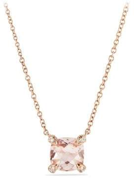 David Yurman Chatelaine® Pendant Necklace With Diamonds In 18K Rose