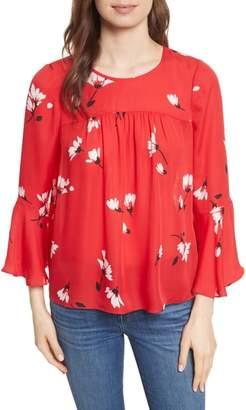 Joie Awilda Bell Sleeve Silk Top