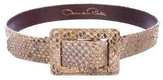 Oscar de la Renta Metallic Leather Belt