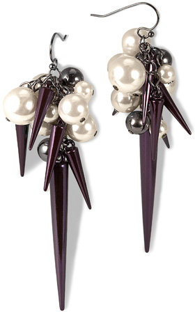 Rachel Roy Spike And Pearl Dangle Earring