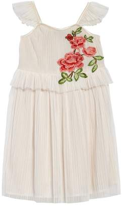 AVA AND YELLY Accordion Pleated Dress (Toddler Girls & Little Girls)