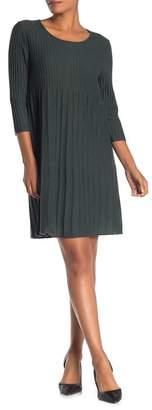 Eileen Fisher Scoop Neck 3/4 Sleeve Wool Sweater Dress