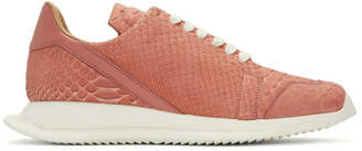 Rick Owens Pink Python Oblique Sneakers