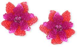 Suzanna Dai Oaxaca Sequin Flower Stud Earrings
