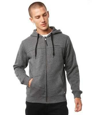 New Depactus Men's Zenith Zip Mens Hood Cotton Polyester Grey