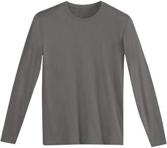 CASTALUNA MEN'S BIG & TALL Long-Sleeved Cotton Crew Neck T-Shirt