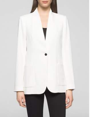 Calvin Klein long one-button suit jacket