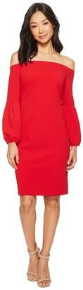 Vince Camuto Off Shoulder Bubble Sleeve Crepe Ponte Dress Women's Dress