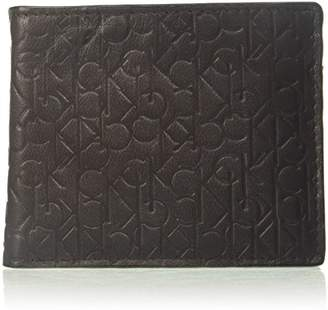 Calvin Klein Men's Logo Embossed Billfold with Coin Pocket