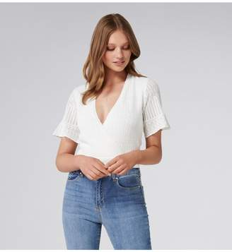 Ever New Indi Wrap Stitch Top