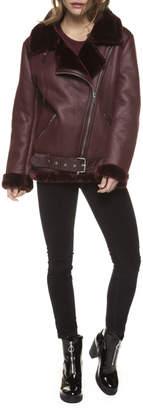 Dex Fur Trimmed Neck/Cuff Biker Jacket
