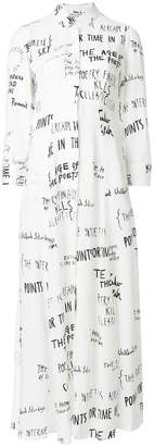Each X Other handwritting long dress