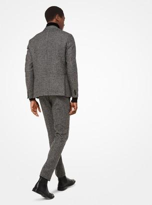 Michael Kors Houndstooth Wool-Blend Blazer