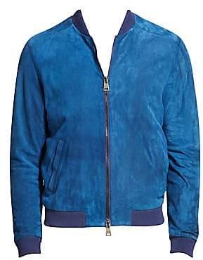 Etro Men's High Tide Leather Bomber Jacket